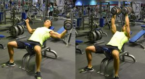 incline dumbell flying